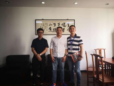热烈欢迎广州威易迅科技有限公司团队精英来我司考察指